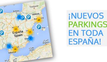 Nuevas plazas aparcamiento Parkapp en toda España
