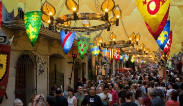 Festa de gracia Barcelona con Parkapp