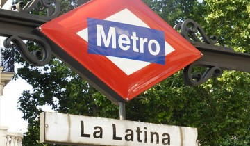 Cartel Metro de La Latina Madrid