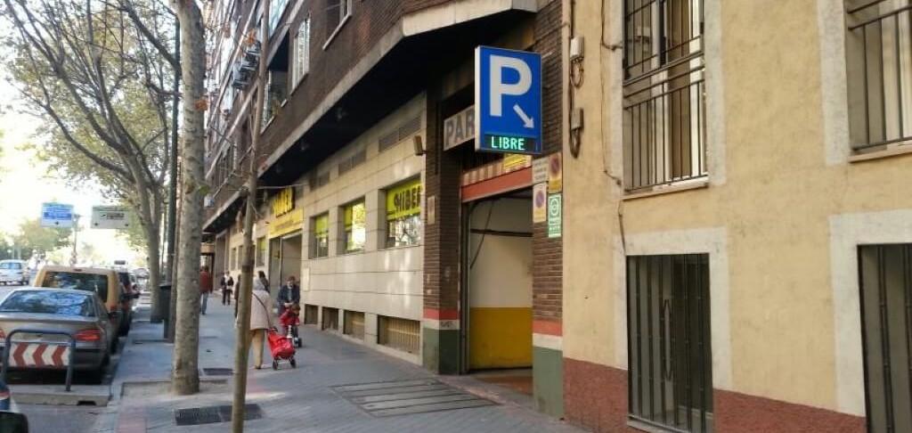 parking jardines del Retiro